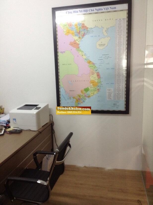 Bản Đồ Việt Nam Đóng Khung 04