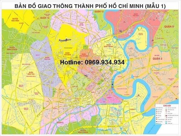 Bản đồ giao thông TpHCM khổ lớn 1