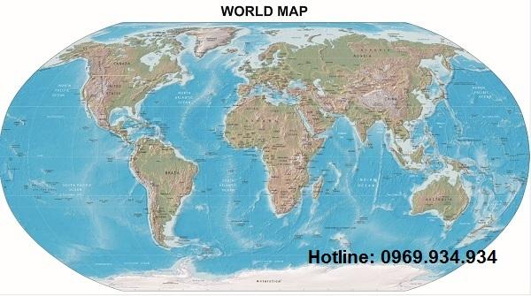 Bản đồ thế giới khổ lớn mẫu 15