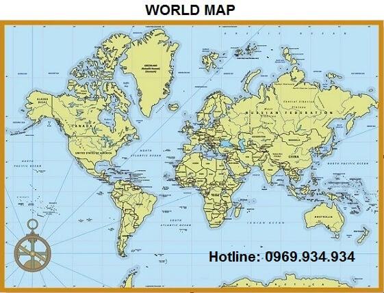 Bản đồ thế giới khổ lớn mẫu 28