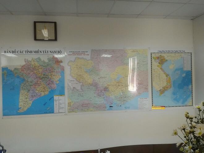 Bản Đồ Đông Nam Bộ Dán Tường