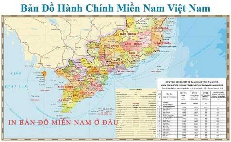 In bản đồ Miền Nam kích thước lớn ở đâu