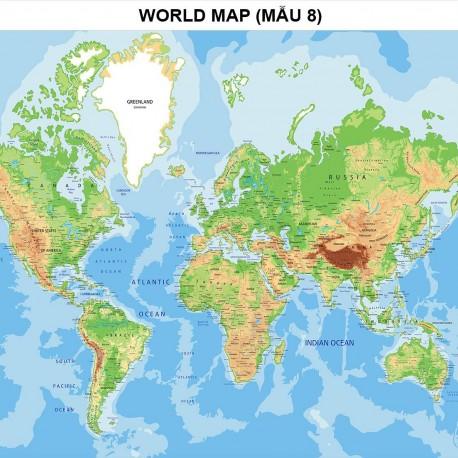 Bản đồ thế giới khổ lớn mẫu 8