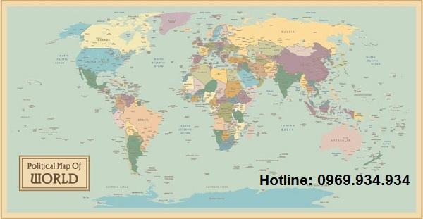 Bản đồ thế giới khổ lớn mẫu 16