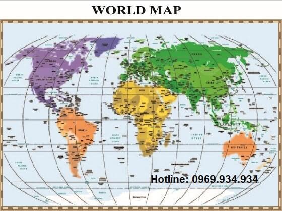 Bản đồ thế giới khổ lớn mẫu 20