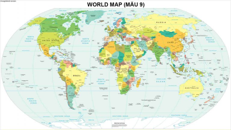 bản đồ thế giới khổ lớn mẫu 9