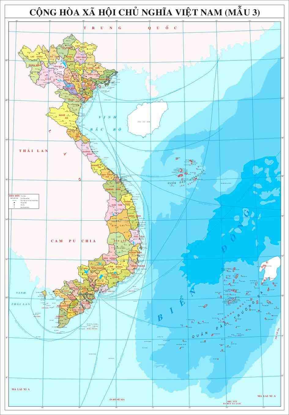 Bán bản đồ Việt Nam khổ lớn