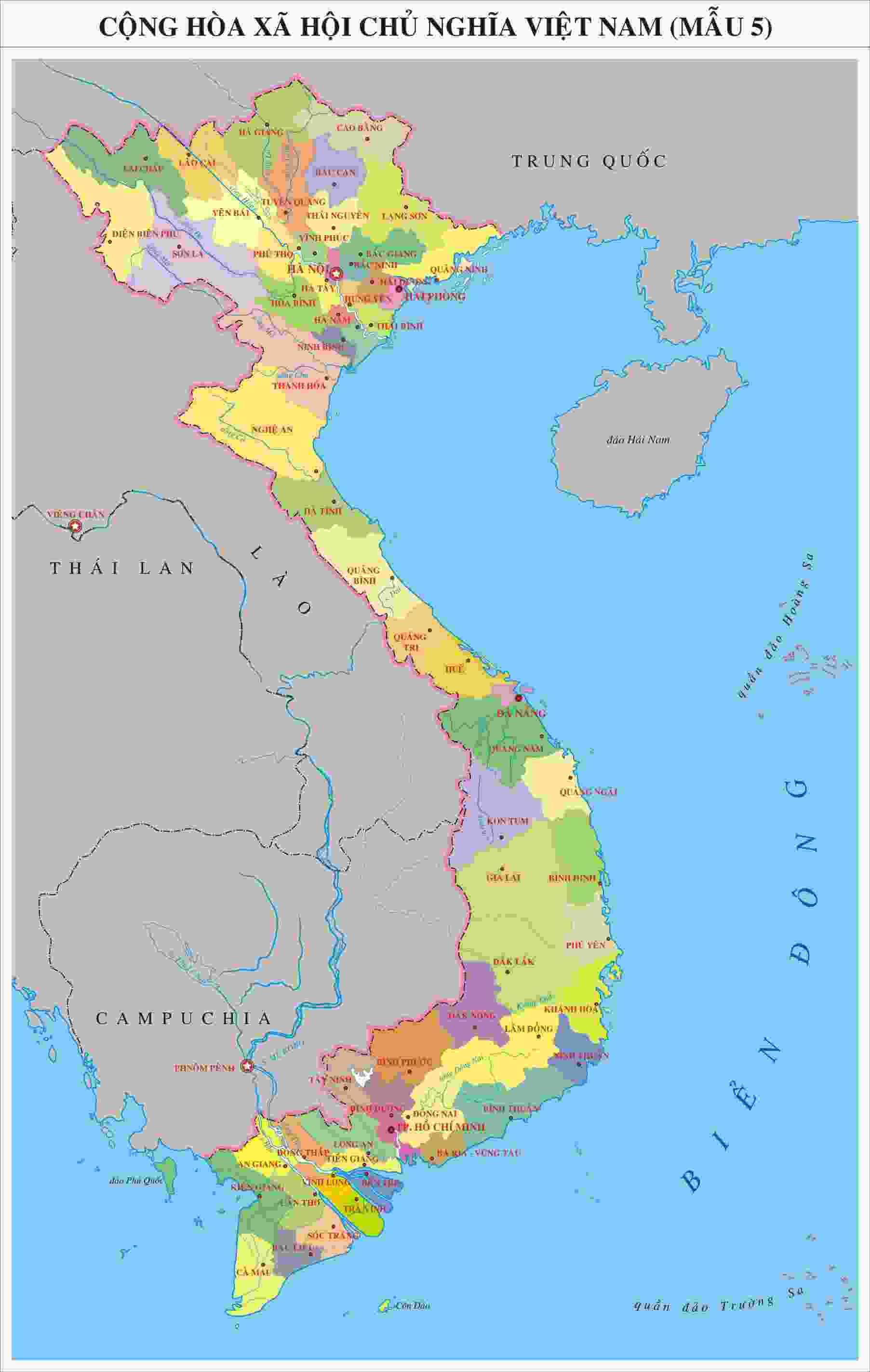 Bán bản đồ Việt Nam tại TPHCM