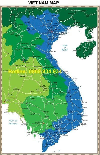 Bản đồ Việt Nam khổ lớn mẫu 6