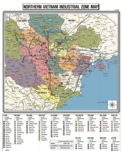 bán bản đồ khu công nghiệp Miền Bắc