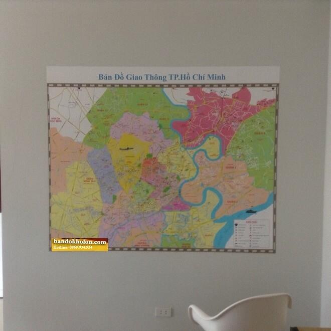 bán bản đồ Thành Phố HCM