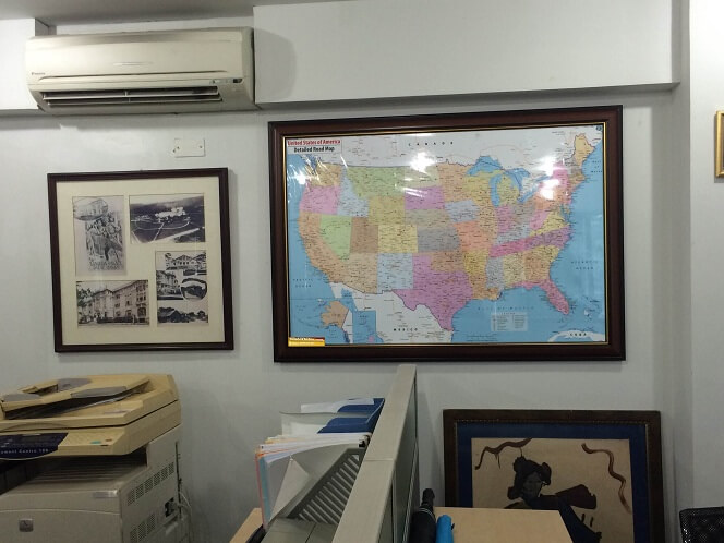 bán bản đồ nước Mỹ