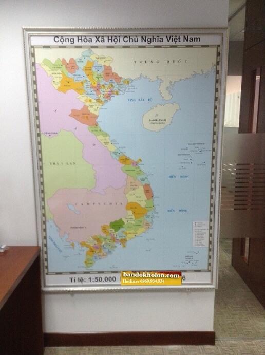 Bản Đồ Việt Nam Đóng Khung 09