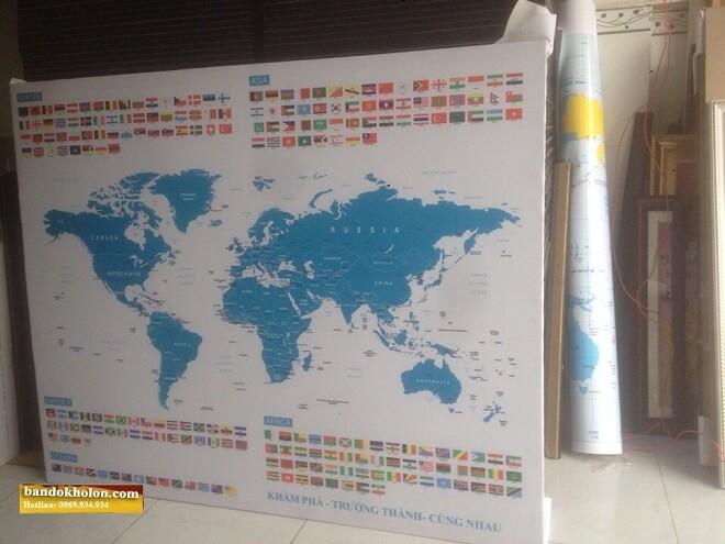 bán bản đồ thế giới khổ lớn giá rẻ