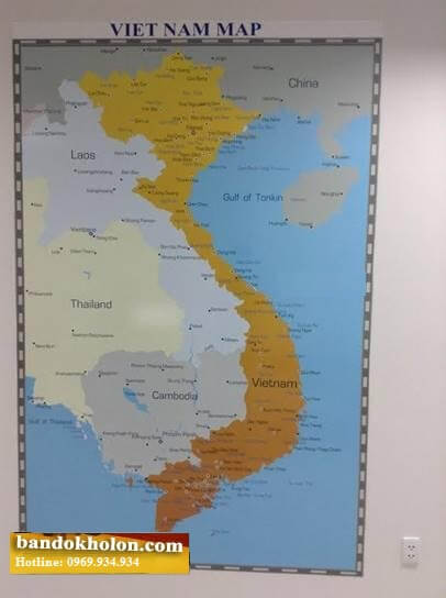 Bản Đồ Việt Nam Tiếng Anh Dán Tường