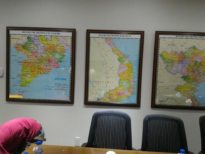 Bán bản đồ miền trung khổ lớn