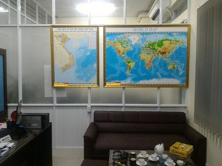 Bản đồ treo tường tiện dụng