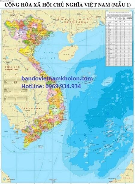 bản đồ tổng thể Việt Nam