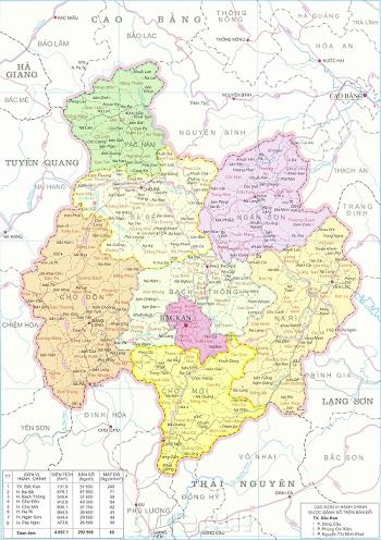 Bán bản đồ hành chính tỉnh Bắc Kạn