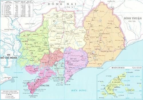 Bán bản đồ hành chính tỉnh Bà Rịa – Vũng Tàu