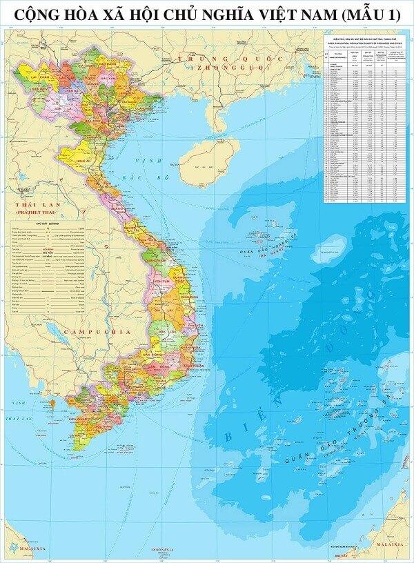 Bán bản đồ Việt Nam tại Hà Nội