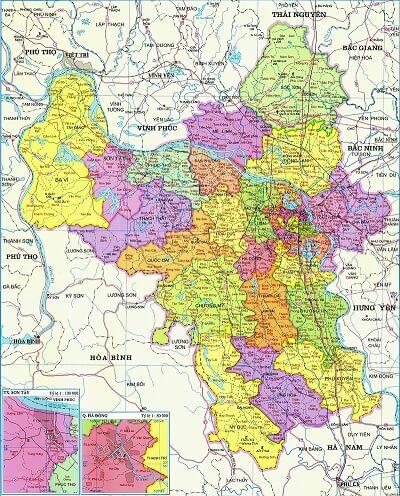 Bán bản đồ Hà Nội khổ lớn