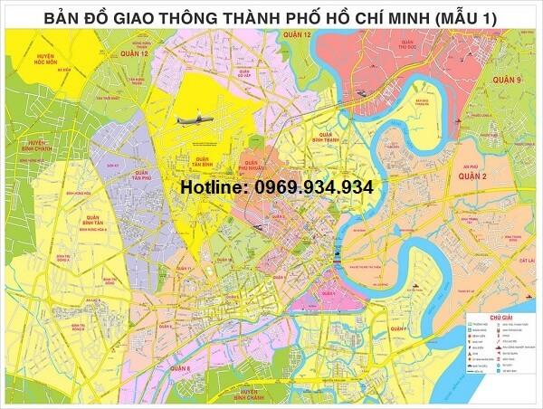 Bán bản đồ Thành phố Hồ Chí Minh