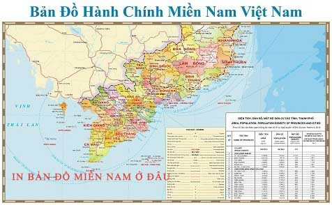 In bản đồ Miền Nam ở đâu