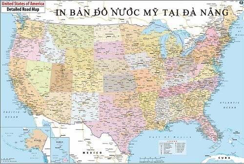 In bản đồ Nước Mỹ tại Đà Nẵng