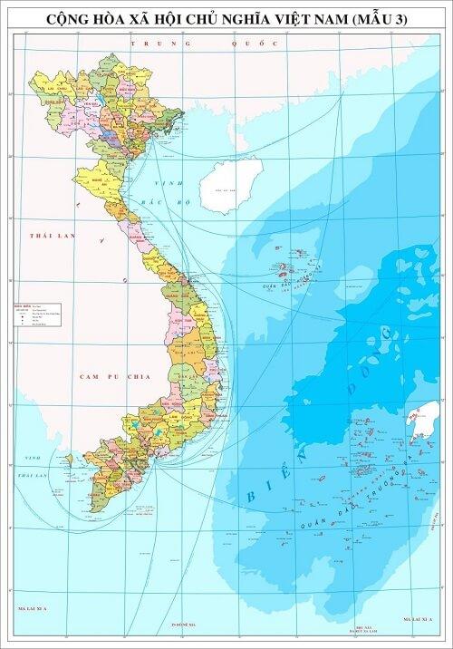 In bản đồ Việt Nam ở đâu
