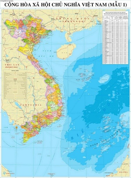 In bản đồ Việt Nam tại Hà Nội