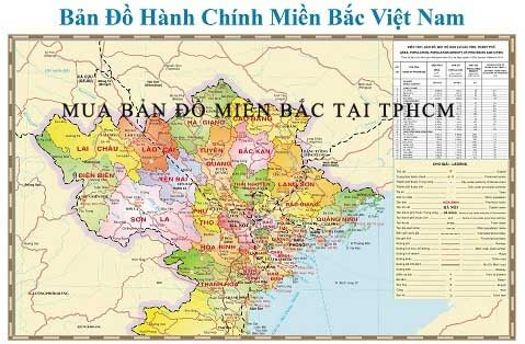Mua bản đồ miền bắc tại TPHCM giá rẻ