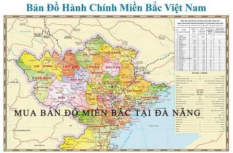 Mua bản đồ Miền Bắc tại Đà Nẵng