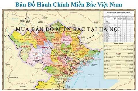 Mua bản đồ Miền Bắc tại Hà Nội