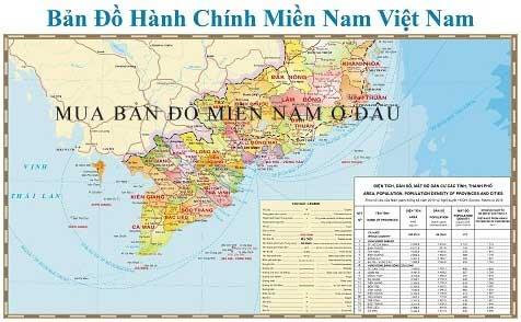 Mua bản đồ Miền Nam tại Hà Nội