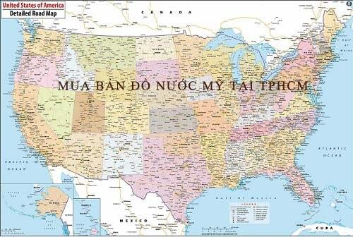 Mua bản đồ Nước Mỹ tại TPHCM