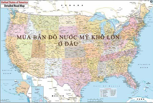Mua bản đồ Nước Mỹ khổ lớn ở đâu