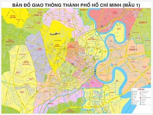 Mua bản đồ TPHCM khổ lớn ở đâu