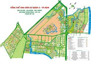 Bán bản đồ dự án Quận 2