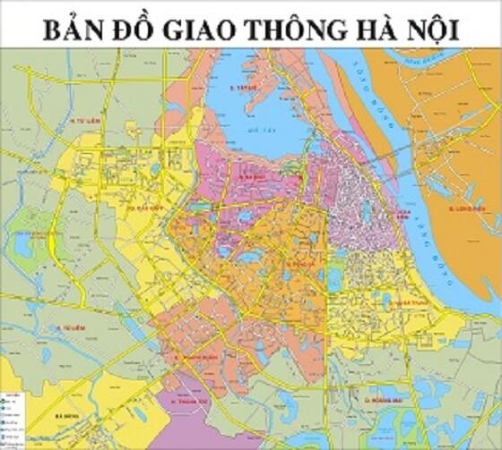 Đóng khung bản đồ Hà Nội khổ lớn