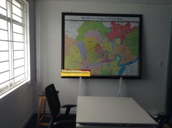Đóng khung bản đồ TPHCM khổ lớn