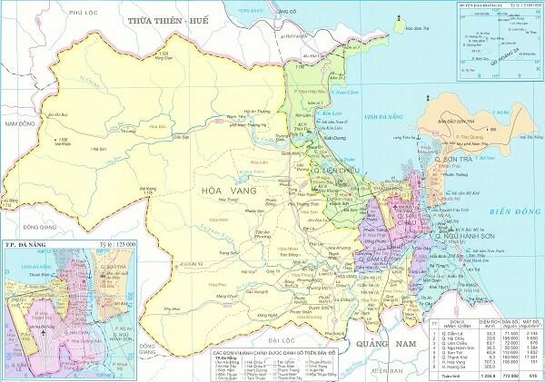 Bản đồ hành chính tỉnh đà nẵng