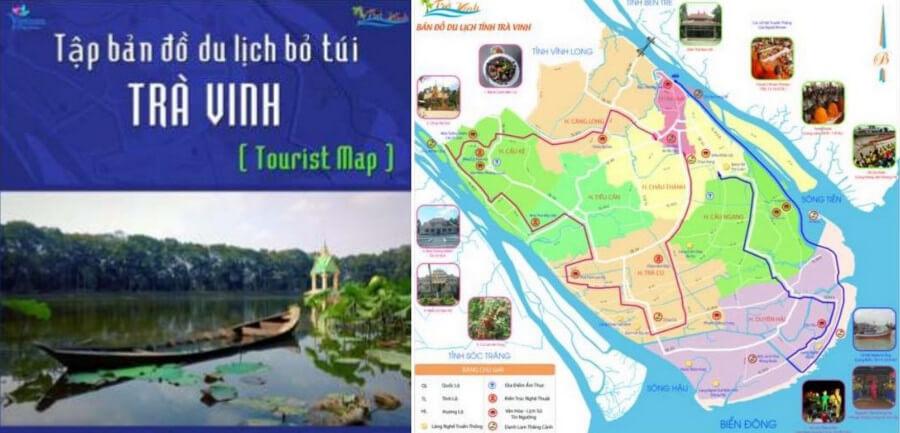 Tập bản đồ du lịch khu vực trà vinh