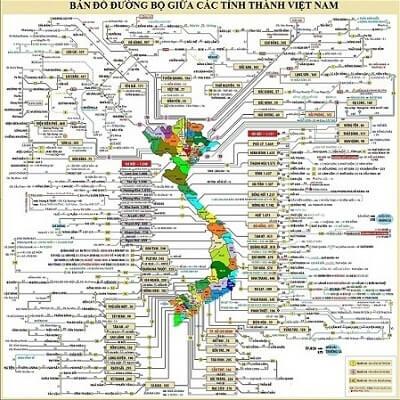 Mạng lưới bản đồ hệ thống giao thông toàn quốc