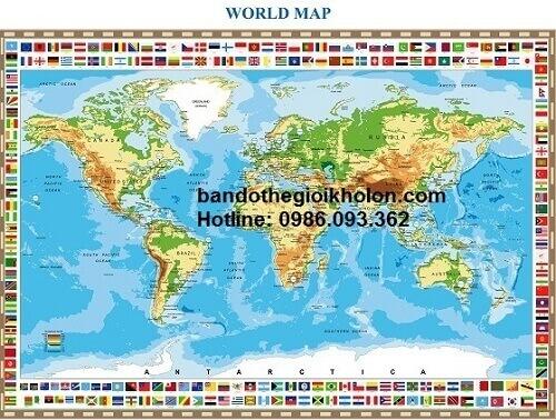 Mua bản đồ thế giới khổ lớn tại tphcm