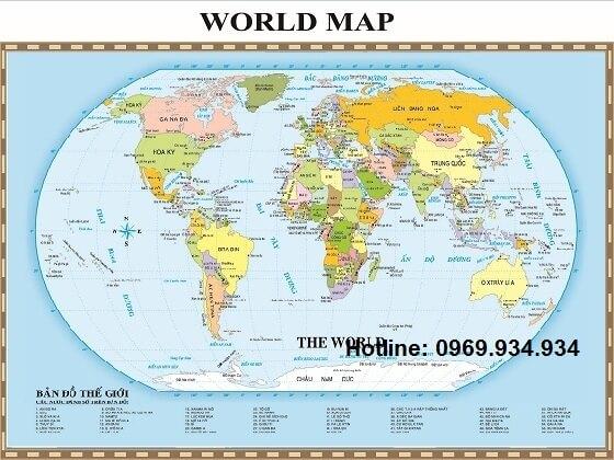 Mua bản đồ thế giới khổ lớn giá rẻ