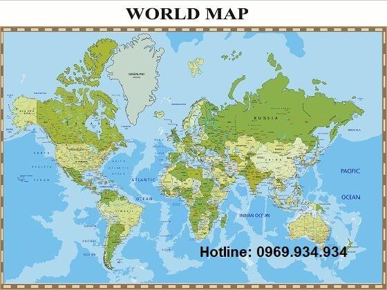 mua bản đồ thế giới khổ lớn ở đâu tại Hà Nội