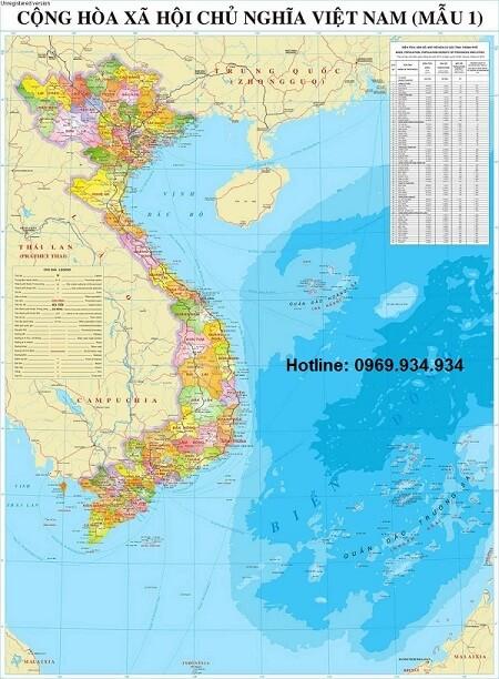 Mua bản đồ việt nam khổ lớn giá rẻ tại TPHCM