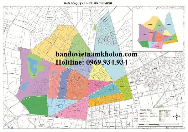 Bản Đồ Quận 11- Thành Phồ Hồ Chí Minh
