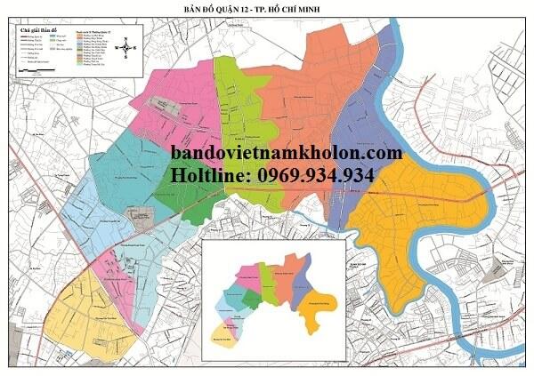 Bản Đồ Quận 12-Thành Phố Hồ Chí Minh
